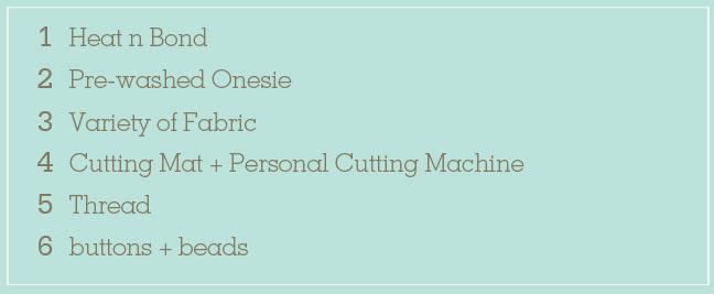 Onesie supply labels