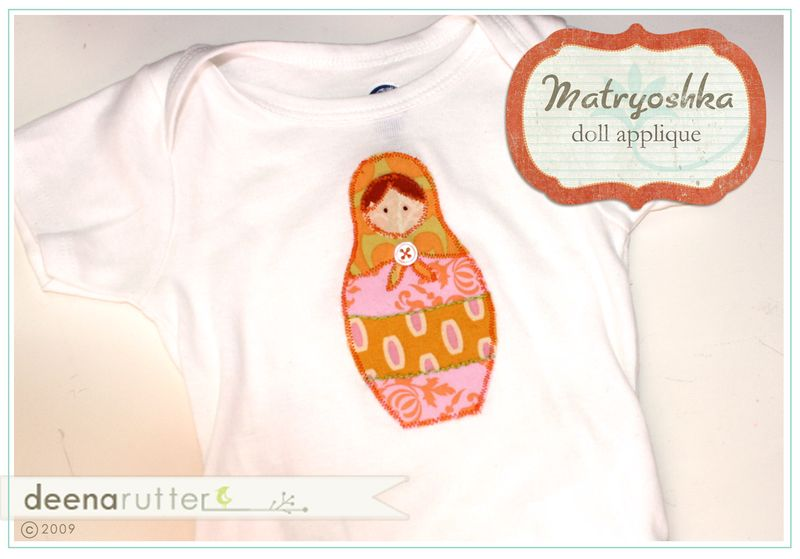 Matroyshka doll onesie sample