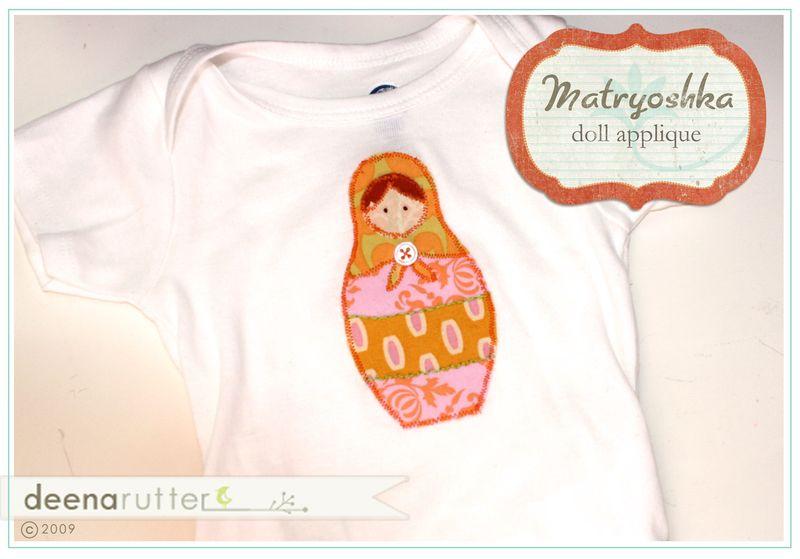 Matroyshka doll onesie sample