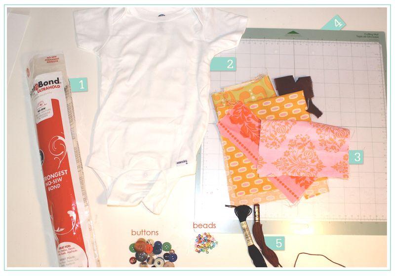 Matroyshka doll onesie supplies