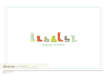 Happy winter card