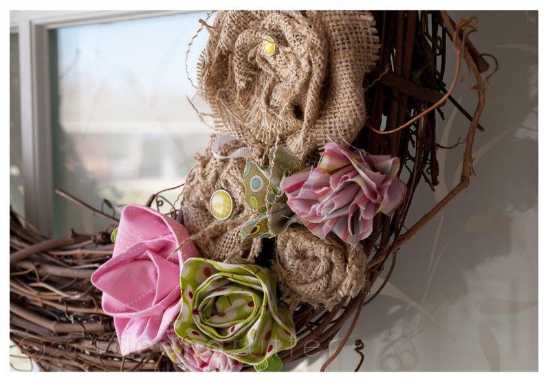 Penny lane no sew wreath4