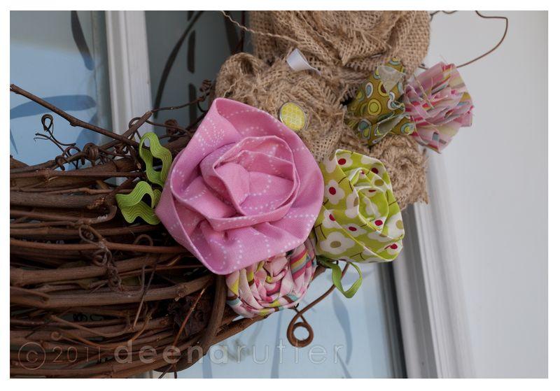 Penny lane no sew wreath2