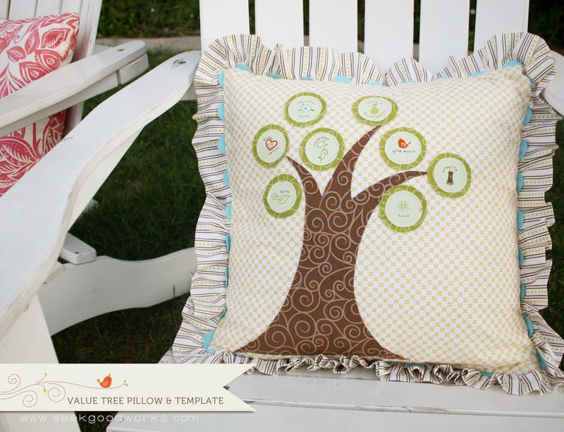 Good Life-value tree pillow