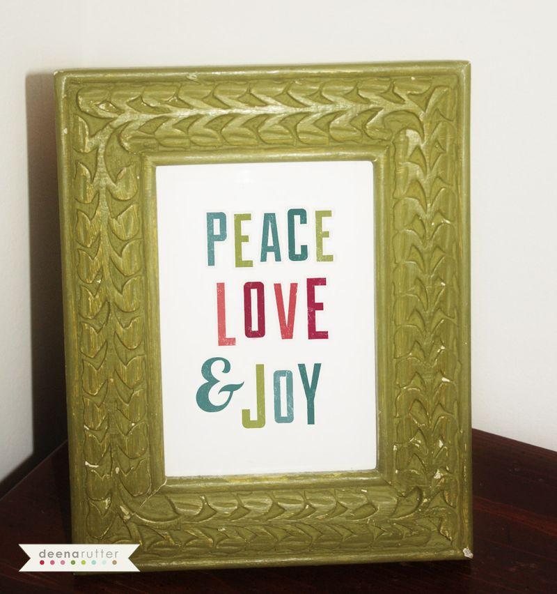 Drutter-Be Merry peace love joy